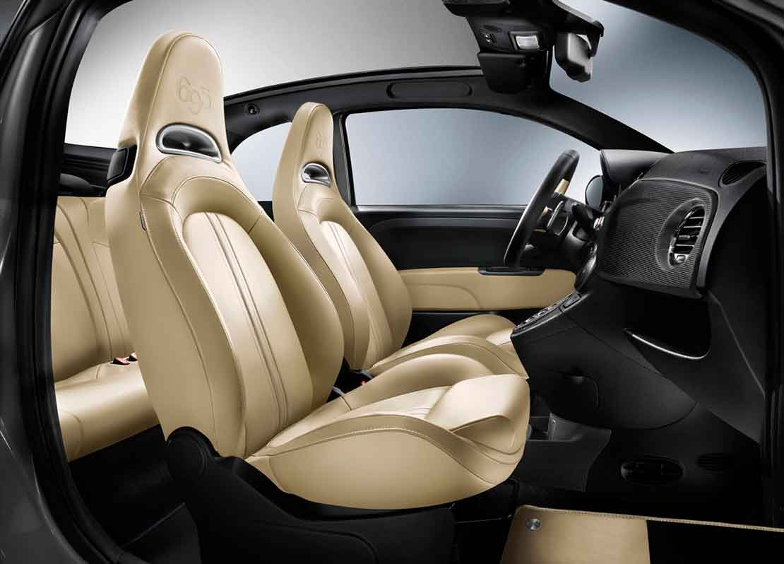 Abarth 695 Edizione Maserati Record Grey Interior